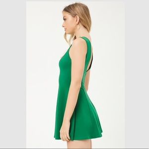 Forever 21 Dresses - NWT Green Forever21 Mini Dress Skater Fit Flare